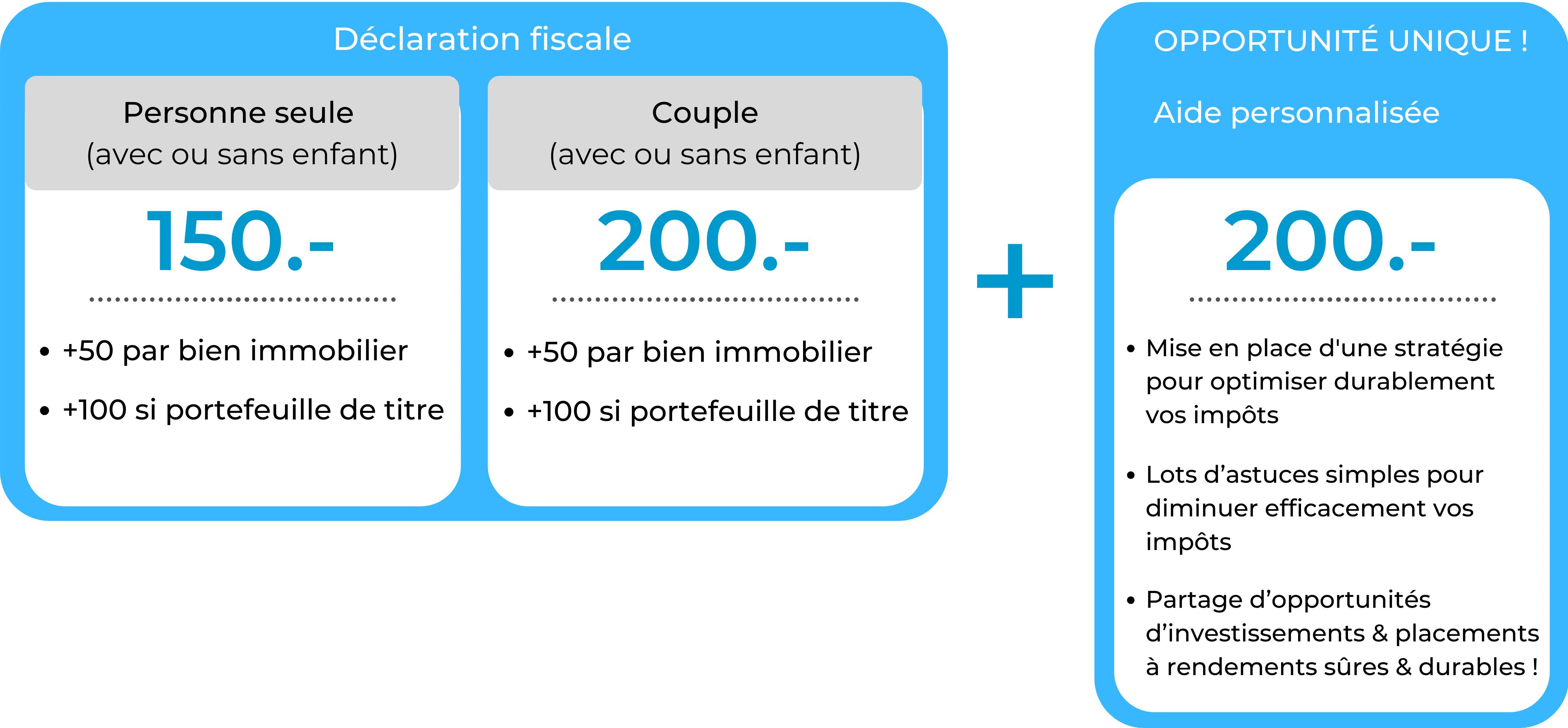 Offre fiscalité suisse